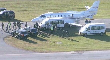Avião pousou no Aeroporto Santos Dumont