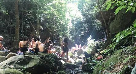 Aglomerações foram registradas nas cachoeiras