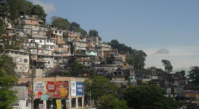 Região do morro do Fallet, região central do Rio, onde 13 pessoas foram mortas