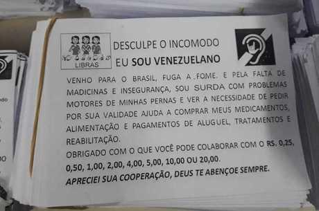 Panfletos entregues por vítimas foram recolhidos