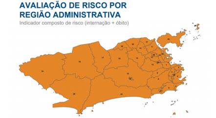 Rio segue com alto risco para covid-19