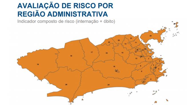 Município tem risco alto em todas as regiões administrativas