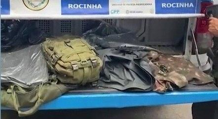 Materiais seriam levados para criminosos da Rocinha
