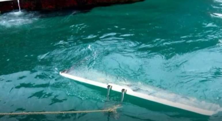 Marinha do Brasil encontrou um destroço que pode pertencer ao deck do Maestro