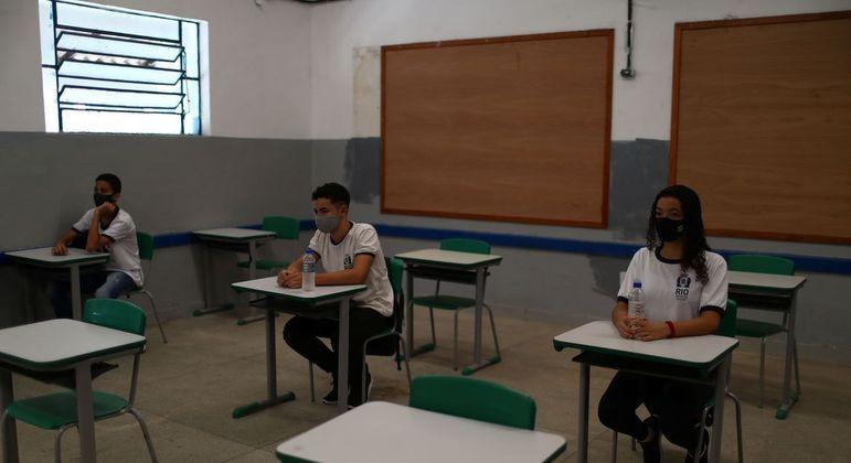 A partir desta semana 783 unidades escolares funcionarão presencialmente no Rio
