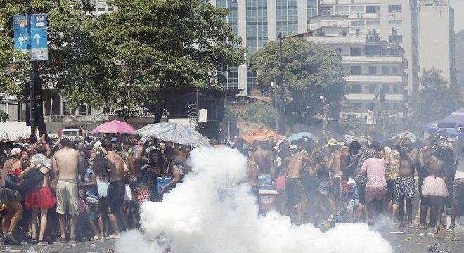 Tumulto generalizado acabou com festa em bloco carnavalesco