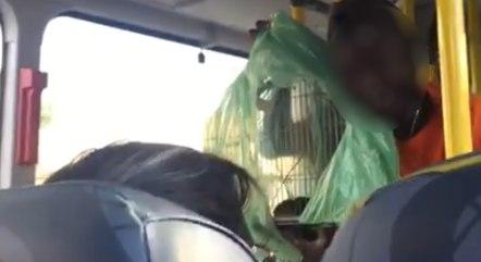 Vídeo foi gravado por um dos passageiros