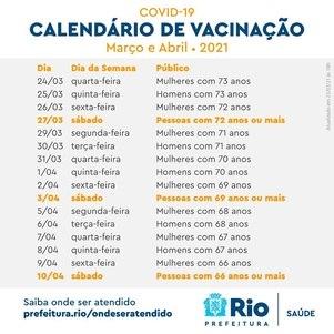 Calendário de Março e Abril