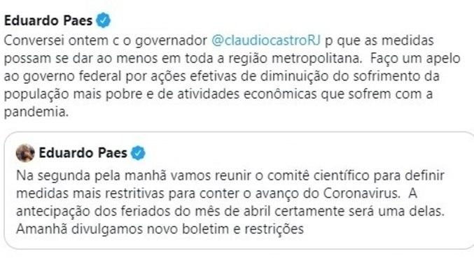 Paes fala sobre a mudança nas redes sociais