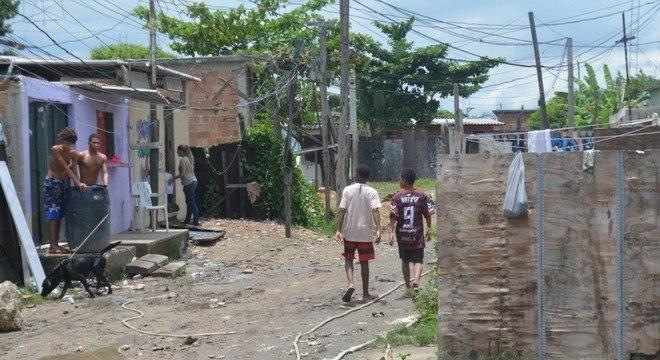 Em situação precária, moradores contam com ajuda  de projetos sociais