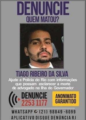 Disque Denúncia busca informações sobre morte de advogado na Ilha