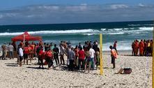 Rio: Bombeiros buscam colega que sumiu no mar durante treinamento