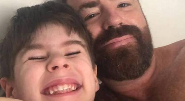 Henry com o pai, Leniel Borel