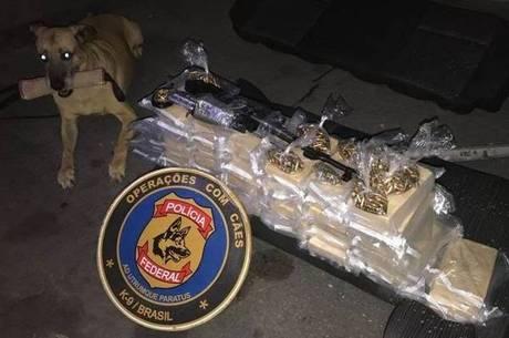 Polícia apreendeu um fuzil e 400 cartuchos de munição