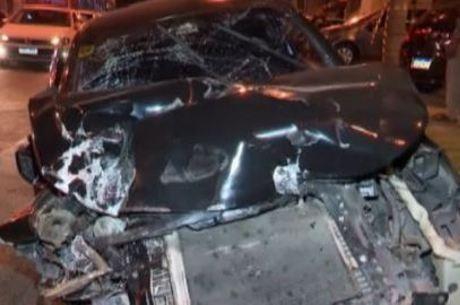 Suspeitos bateram, na tarde desta sexta-feira (24), após fuga