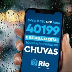 Rio envia alertas de chuva via celular