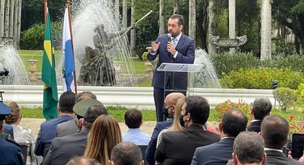 Cláudio Castro fez pronunciamento no Palácio Guanabara