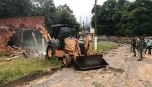 Construção irregular da milícia é demolida na zona oeste do Rio