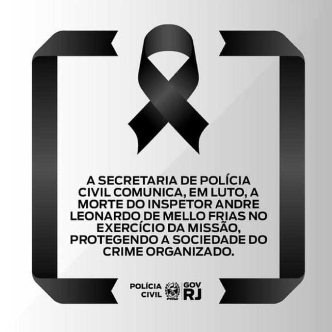 Imagem compartilhada em rede social pela Secretaria de Polícia Civil
