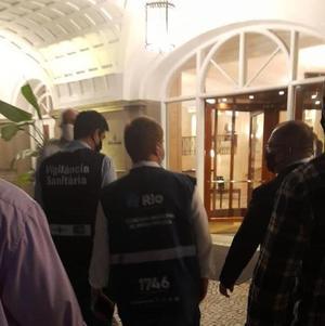Fiscais estiveram no hotel na sexta