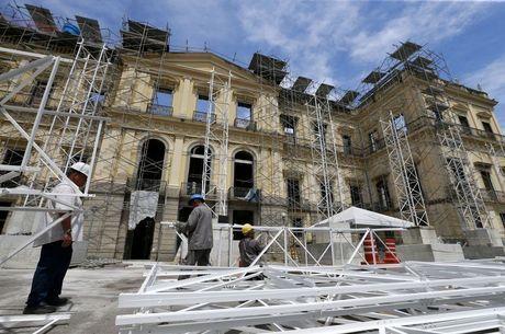 Museu Nacional, destruido por um incêndio em setembro de 2018