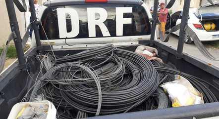 DRF recuperou mais de 2 km de cabos de fibra ótica