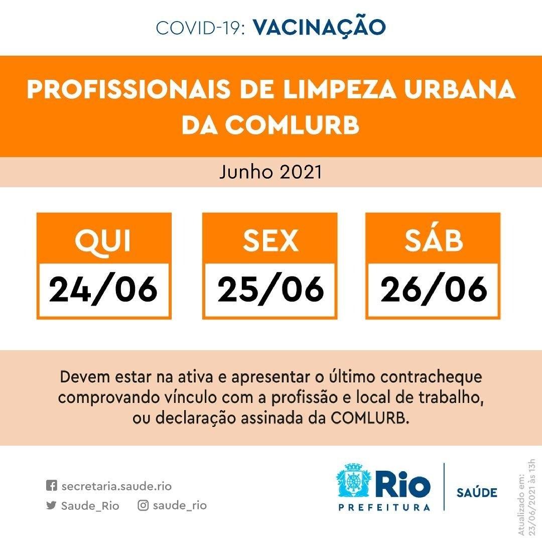Rio vacina profissionais da Comlurb nesta semana