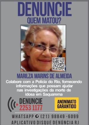 Marilza foi achada morta no dia 13
