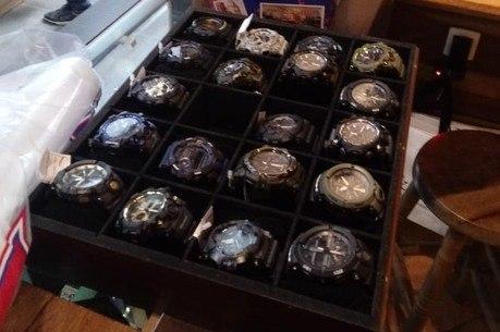 Relógios estão entre os produtos apreendidos