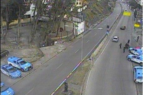 Ação da polícia interditou estrada