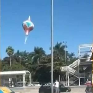 Balão de 28m cai na sede da Fiocruz