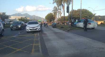 Perseguição terminou na avenida Abelardo Bueno