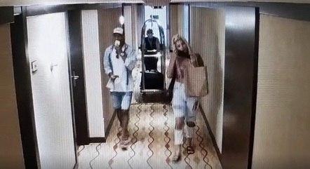 Câmeras flagraram casal em hotel cinco estrelas