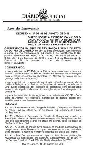 Resolução foi publicada no Diário Oficial