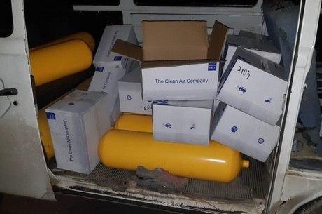 Suspeito transportava cilindros de GNV roubados