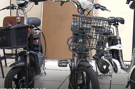 Suspeitos usavam bicicletas elétricas para entregar as drogas