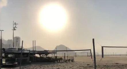 Rio amanheceu com sol e ventos