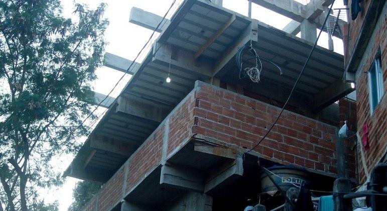 Construção irregular localizada em Botafogo, na zona sul do Rio