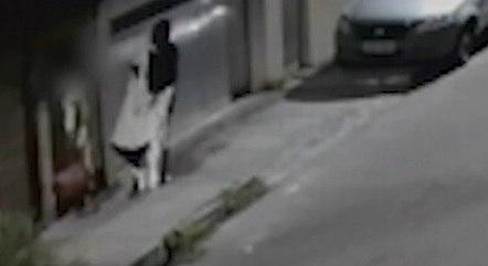 Câmeras registraram mulher carregando TV