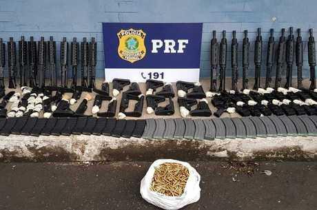 PRF realizou a maior apreensão de fuzis de 2018