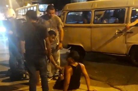 Motorista foi atingido na virilha