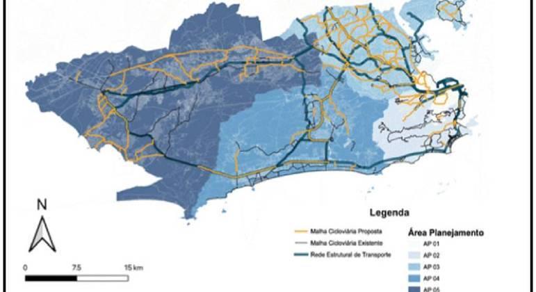 Plano prevê criação de ciclovias interligando diferentes zonas da cidade