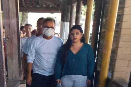 Marcos Abrão usava uma proteção no rosto