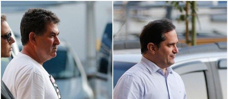 Paulo Melo (à esq.) e Edson Albertassi (à dir.) durante prisão feita pela PF