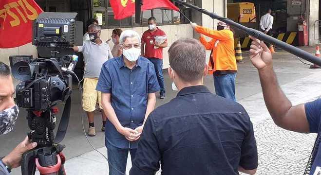 Cyro Garcia  fez panfletagem na Cidade Nova