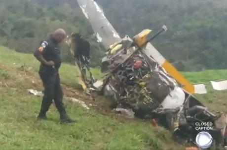 Militares foram acionados após a queda da aeronave