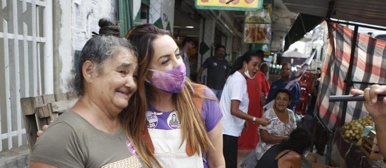 Gloria caminhou por Madureira
