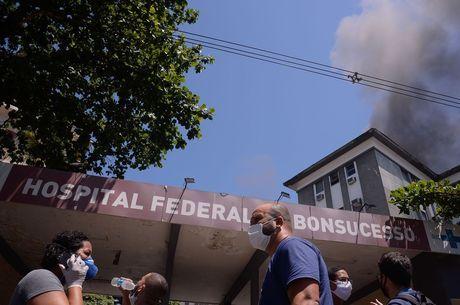 Hospital de Bonsucesso foi atingido por incêndio