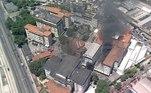 Um incêndio atingiu na manhã desta terça-feira (27) o Hospital Federal de Bonsucesso, na zona norte do Rio de Janeiro*Estagiário doR7, sob supervisão de PH Rosa
