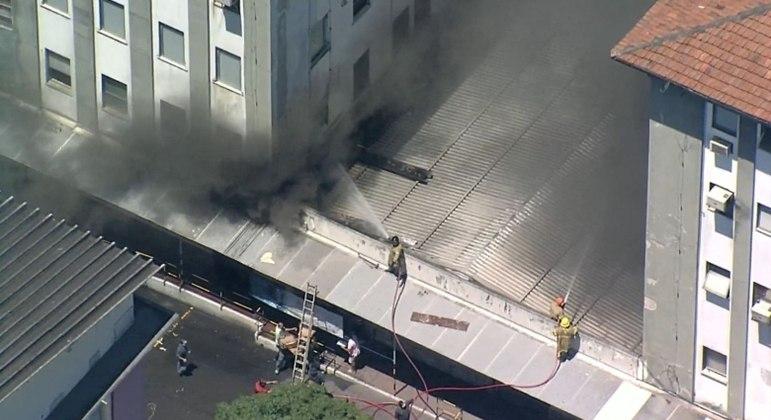 Incêndio no Hospital de Bonsucesso, no Rio de Janeiro
